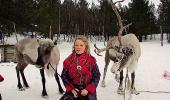 Анна-Луиза со своими оленями
