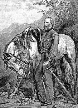 Он воевал в Италии и на реке Амазонке, искал славы в Африке и, по слухам,  даже в Китае, – неукротимый  Джузеппе Гарибальди