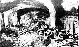 Ночлежка Хитрова рынка. Рисунок с натуры В. Симова