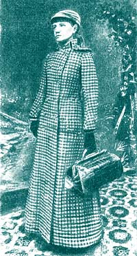 Нелли Блай перед началом путешествия