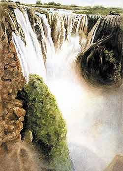 Схватка над водопадом