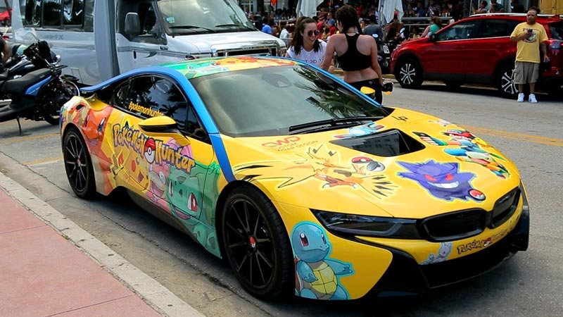 BMW i8 Pokemon Go