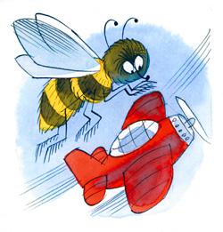 Самолётик размером с пчелу