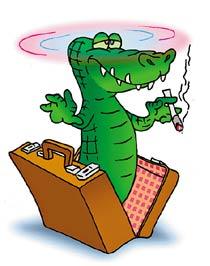Марихуана, водитель и крокодил