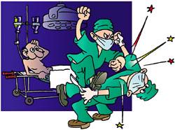 Хирурги тоже умеют драться