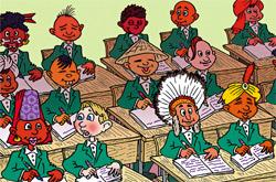 Британские школьники в меньшинстве