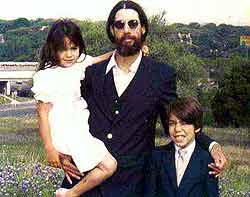 Молодой Джек с дочерью Маргарет и сыном Джеком