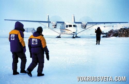 Ан-28 на Северном полюсе