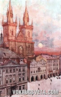 Тынский собор на Староместской (Старогородской) площади