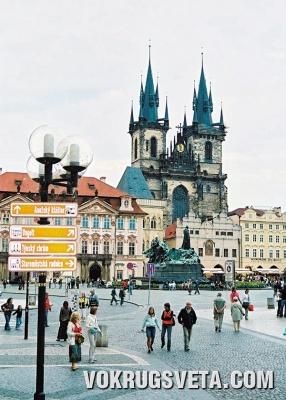 Прага. Тынский собор на Староместской площади