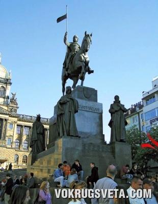 Прага. Статуя Святого Вацлава