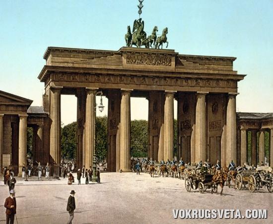 Бранденбургские ворота в конце ХIХ века