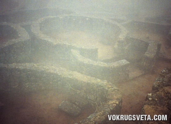 Круглые стены кельтского поселения