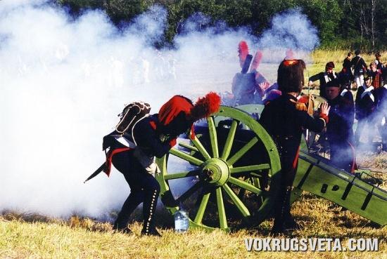 Залп французской артиллерии