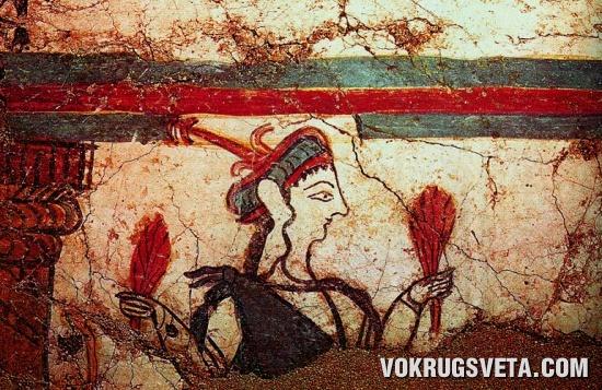 Женщина с пучками трав