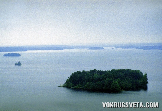Одно из озер в районе Тампере