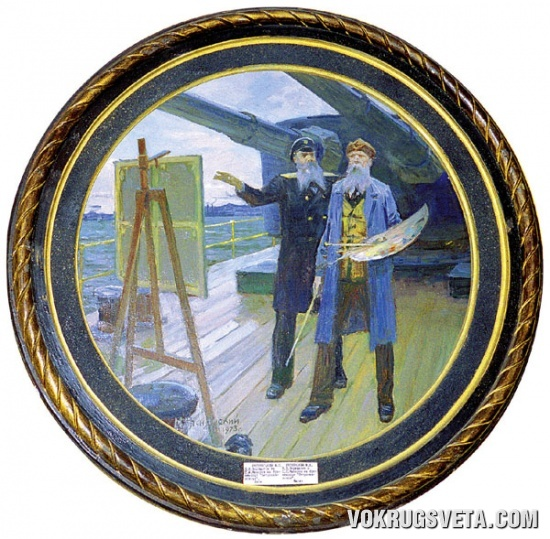 Адмирал Макаров на броненосце «Петропавловск»