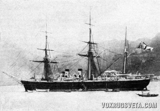 Корвет «Витязь». 1884 г.