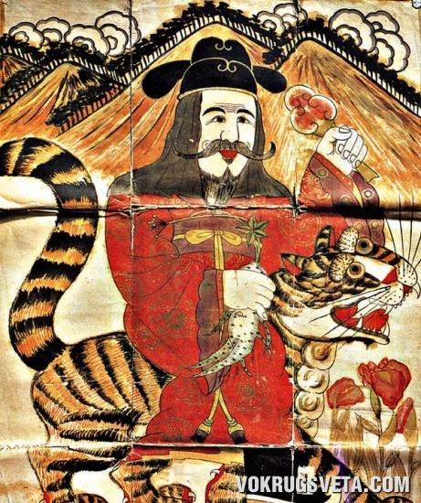 Горный дух с тигром