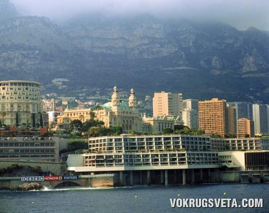 Монако. Вид с моря в наши дни