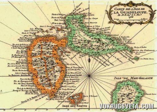 Очертания Гваделупы