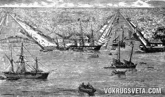 Сайгонский порт. XIX в.