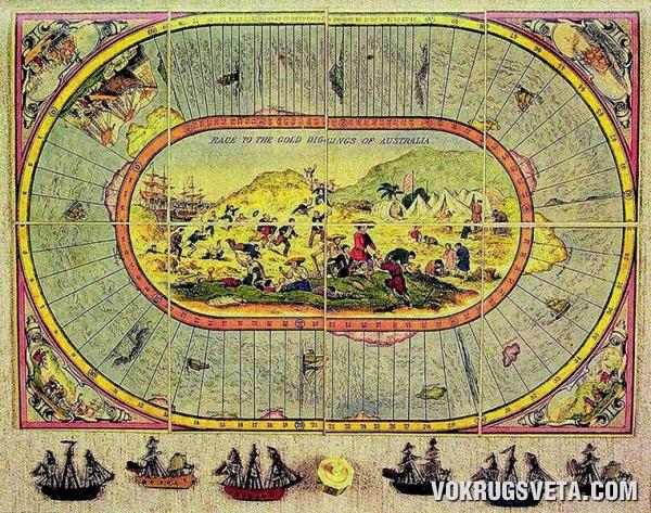 На старинной карте